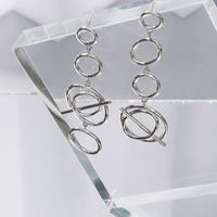 Multi Helix Silver Earrings - Wanderlust + Co