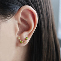 August Birthstone Gold Earrings