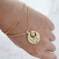 September Birthstone Gold Bracelet - Wanderlust + Co