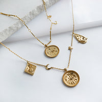 Aleya Gold Multi Charms Necklace