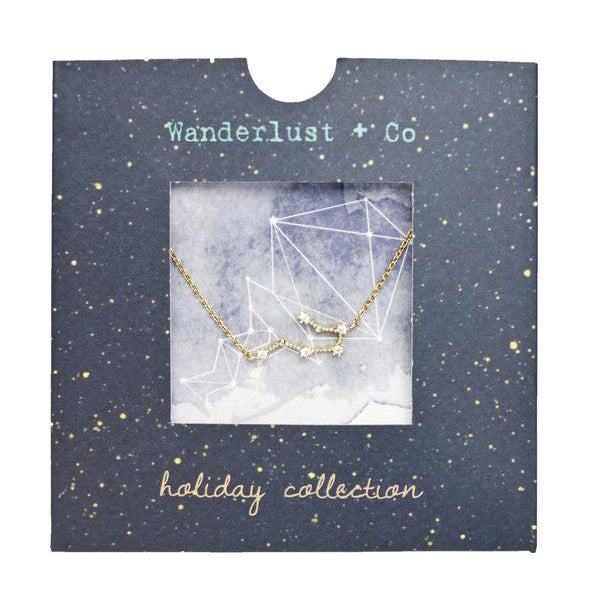 Aquarius Zodiac Gold Necklace