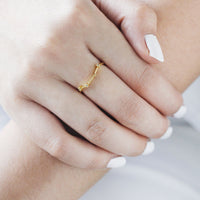 Aries Zodiac Gold Ring - Wanderlust + Co