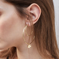 Arya Hoop Gold Earrings