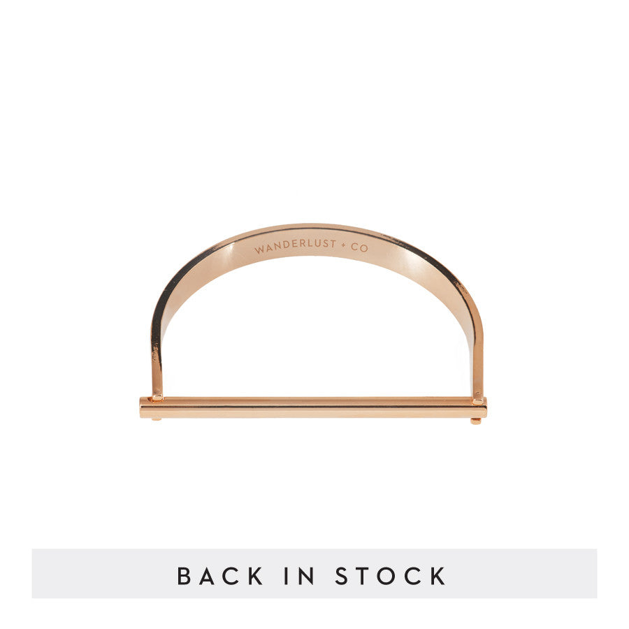 Bar Rose Gold Bangle