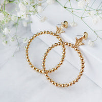 Bee Gold Hoop Earrings