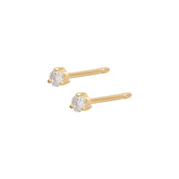 Brilliant Petite Topaz Gold Sterling Silver Earrings