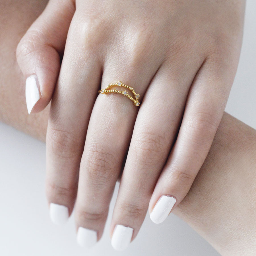 Capricorn Zodiac Gold Ring