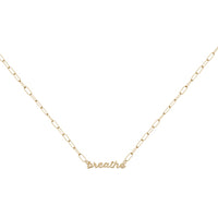 Gold Sterling Silver Nameplate Necklace With Chain Link