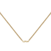 Gold Sterling Silver Nameplate Necklace With XL Curb Chain