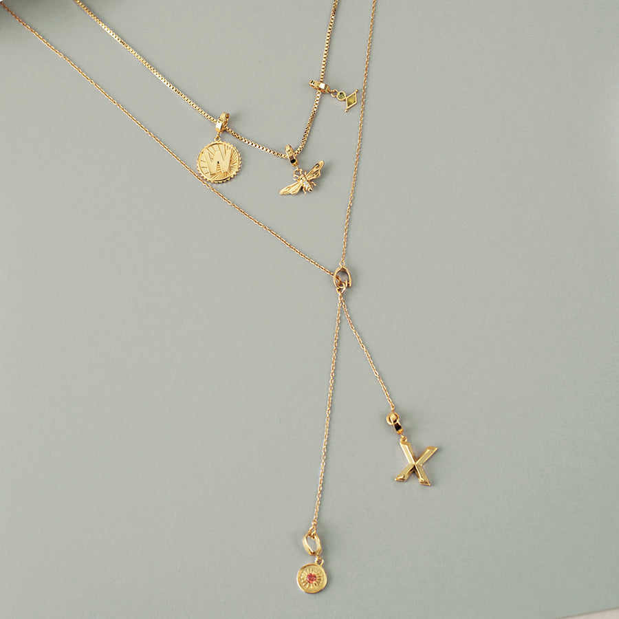 Lariat Gold Necklace