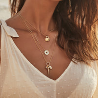 Como Shell Gold Necklace - Wanderlust + Co