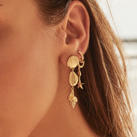 Como Shell Gold Earrings - Wanderlust + Co