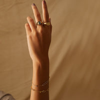 Crescent Key Gold Bracelet