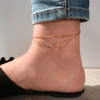 Starry Skies Gold Sterling Silver Anklet - Wanderlust + Co