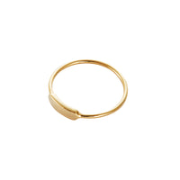 Pinky Gold Sterling Silver Ring