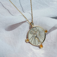 Eos Goddess Gold Necklace - Wanderlust + Co