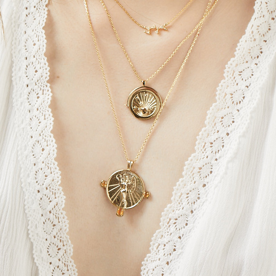 Eos Goddess Gold Necklace