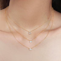 Pear Topaz Gold Sterling Silver Necklace