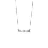 Full Moon Bar Silver Necklace