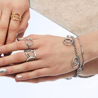Helix Silver Layered Bracelet - Wanderlust + Co