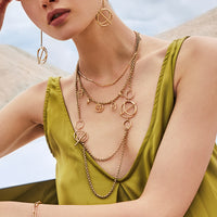 Helix Gold Layered Necklace - Wanderlust + Co