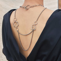 Helix Silver Layered Necklace