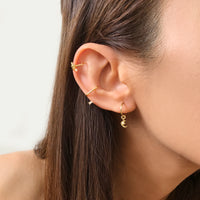 Celestial Hoop Gold Huggie Earrings