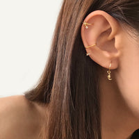 Baguette Gold Ear Cuffs