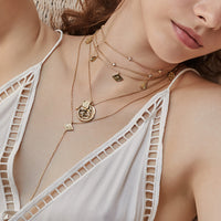 Ines Double Gold Necklace - Wanderlust + Co