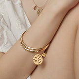Ines Charms Gold Bangle
