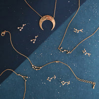 Leo Zodiac Gold Earrings - Wanderlust + Co