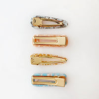 Marbled Hair Clip Set
