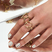 Multi Helix Gold Ring - Wanderlust + Co