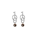 Aura & Bar Silver Earrings