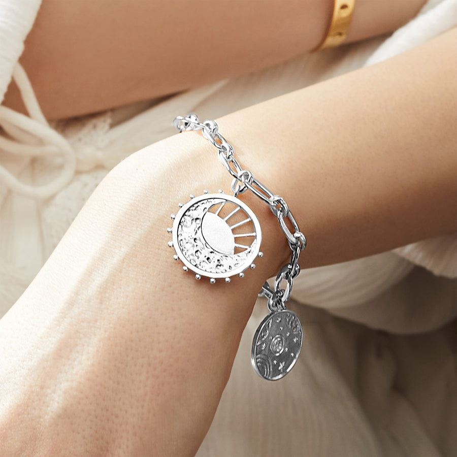 Out of this World Toggle Silver Bracelet