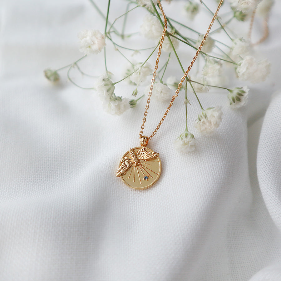 Petite Bee Gold Necklace