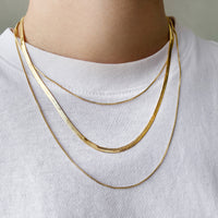 Classic Chain Layered Gold Necklace