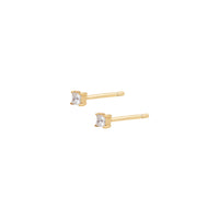 Princess Petite Topaz Gold Sterling Silver Earrings