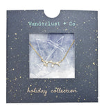 Sagittarius Cosmic Gold Necklace