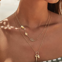 Soleil Gem Gold Necklace - Wanderlust + Co