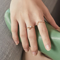 Starry Skies Gold Sterling Silver Ring - Wanderlust + Co
