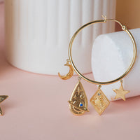 Astra Gold Hoop Earrings - Wanderlust + Co