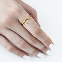 Virgo Zodiac Gold Ring