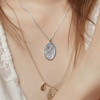 Iris Goddess Silver Necklace - Wanderlust + Co