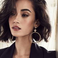 Bee Gold Hoop Earrings - Wanderlust + Co