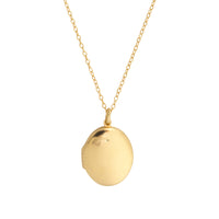 Heirloom Gold Sterling Silver Locket Necklace