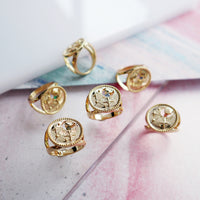 July Birthstone Gold Ring - Wanderlust + Co