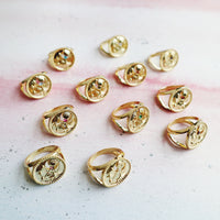January Birthstone Gold Ring - Wanderlust + Co