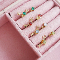 August Birthstone Gold Earrings - Wanderlust + Co