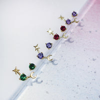 July Birthstone Gold Earrings - Wanderlust + Co